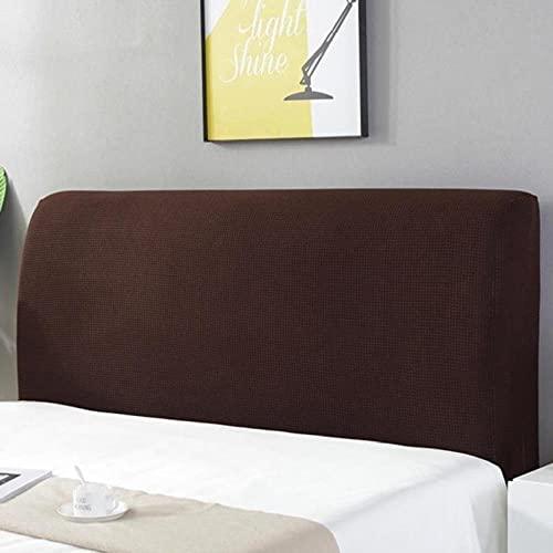 Huvudgavel skydd rödbrun stretch säng sänggavel överdrag tvättbar avtagbar bekväm skydd dammtät sänggavel dekor för sovrum enkel dubbelsäng sängar 220 cm (sänggavel längd 210 – 240 cm)