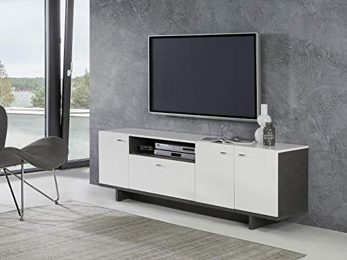 RASANTI TV-Lowboard ca 175 cm breit Makaria von Forte Beton/Weiss i