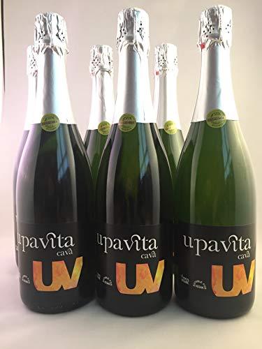 Upavita Cava (D.O. Cava) Valencia Brut Nature Chardonnay/Macabeo (6 X 0,75L) Ecologico y Vegano