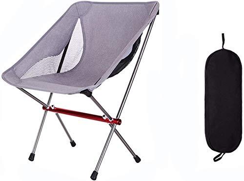 CWT sedia pieghevole all'aperto portatile tempo libero spiaggia campeggio schizzo pesca pesca sedia posteriore 68 * 43 * 58cm argento (colore : argento, dimensioni: 68 * 43 * 58cm)