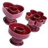 Hemoton Molde de Rosquilla de Plástico 3 Piezas Molde de Pastel de Rosquilla Molde Cortador de Pan Moldes para Rosquillas para Hornear