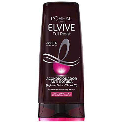 L'Oréal Paris Elvive Full Resist Acondicionador Anti Rotura para Pelo Frágil con Tendencia a Caerse - 300 ml