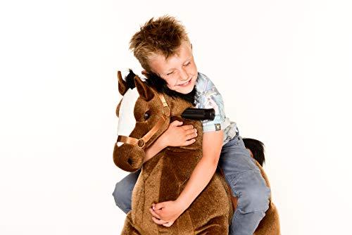 Animal riding ZRP002M Reitpferd Amadeus (für Kinder ab 5 Jahren, Sattelhöhe 69 cm, mit Rollen) ARP002M, Braun, M/L - 5