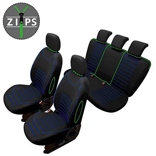 rmg-distribuzione Coprisedili compatibili per YPSILON Versione (2011-2018) compatibili con sedili con airbag, bracciolo Laterale, sedili Posteriori sdoppiabili R61S0397