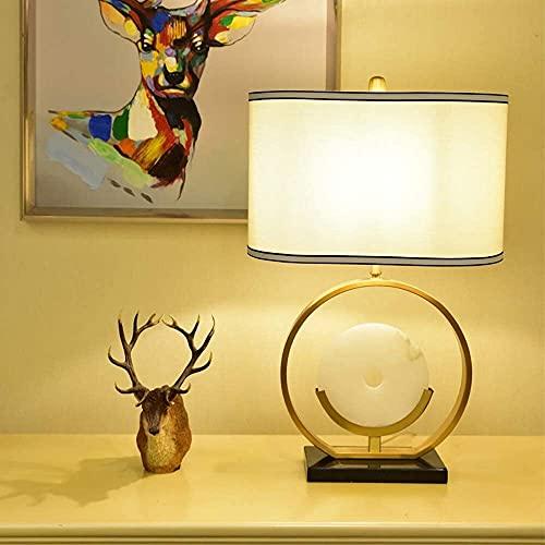 FHUA Lámpara Escritorio Lámpara de Mesa Minimalista Moderna Inteligente de Lujo Personalidad Creativa lámpara de Sala de Estar de mármol de Tres Tonos 40 * 65 cm