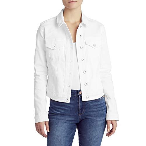 CHAPS Jeans Women's Classic Denim Jean Jacket, White, Medium