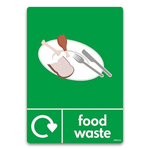 Keuken Voedsel Afval Recycling Bin Sticker WRAP Recycle Nu A6 105 x 148mm