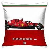 N \ A Charles Leclerc Sf1000-Design - Funda de cojín decorativa para sofá, dormitorio, coche