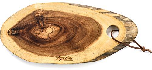 Style de Vie Serveerplank, Acaciahout, Ovaal klein, Geschikt voor borrel, tapas of als broodplank, Behandeld met natuurlijk olie