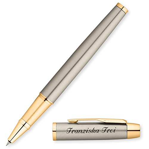PARKER Tintenroller IM mit Edelstahl-Optik G.C. S0856400 mit persönlicher Laser-Gravur