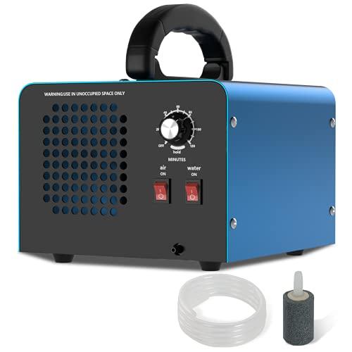 Generatore di Ozono 28,000 mg/h, Purificatore d'aria Deodorante, Generatore di Ozono Alta Capacità O3 con Timer da 120 Minuti, Due Modalità di Purificazione, Purifica...