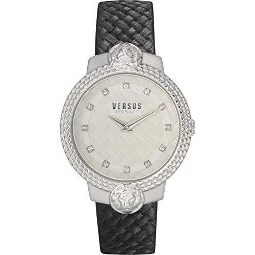 Versus Versace Frau Analog Quarz Uhr mit Leather Armband VSPLK1120