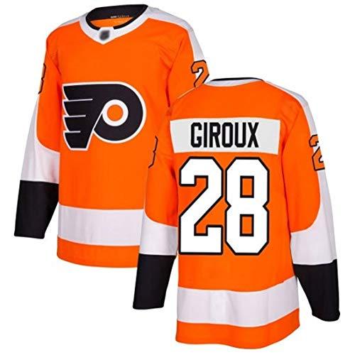 Giroux # 28 Flyer Eishockey Trikot Langarm Eishockey T-Shirt Herren Puck Sportswear Training Wear S-3XL-orange-L