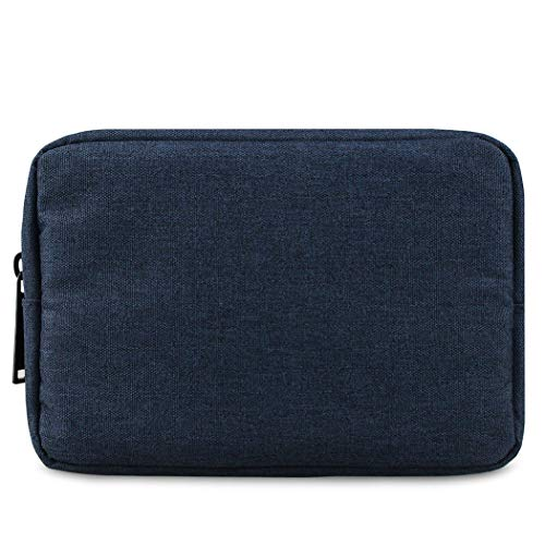 Electronic Accessories Bag,Digital Gadget Organizer Case,Nylon Travel Gear Storage Carrying Sleeve Pouch for Cable,USB,Earphones,Portable Hard Drives,Power Banks,Navy