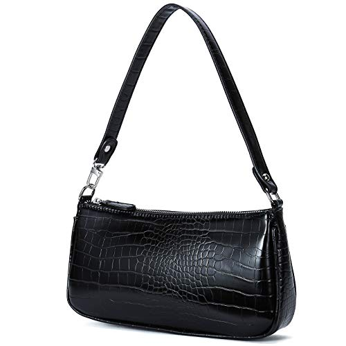 "【Superior Croc Materials】This small shoulder bag is made of premium faux leather with fashion croc pattern 【Perfect Size for Women】10.6"" * 5.1"" *2.0"", a slim and rectangular small handbag fits casual or formal dress 【Versatile Utility for Daily Use】S..."