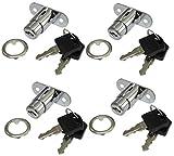AERZETIX: 4X Cerraduras y Llaves para Puerta de Mueble cajón con botón C41400