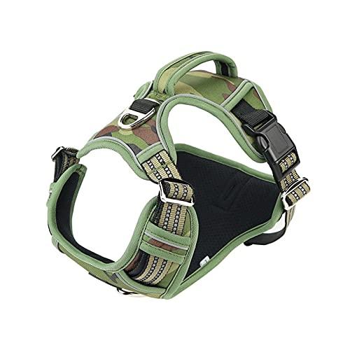 Harnais anti traction pour chien Aucun gilet de harnais de chien de compagnie réglable de pull avec poignée for des chiens de taille moyenne 1000D Harnais de chien réfléchissant en tissu à oxford for