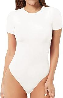 Women's Round Neck Short Sleeve T Shirts Basic Bodysuits