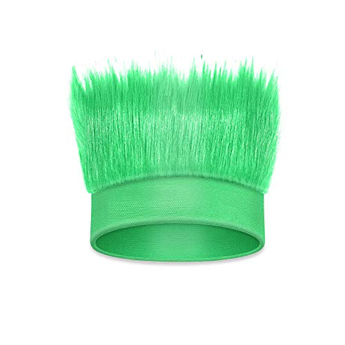 Tiegan 2 PCS 21 Inch Hairy Headband Elastic Crazy Hat Wig for Holloween Costume Accessories Sports Party and Spirit Day (Green)