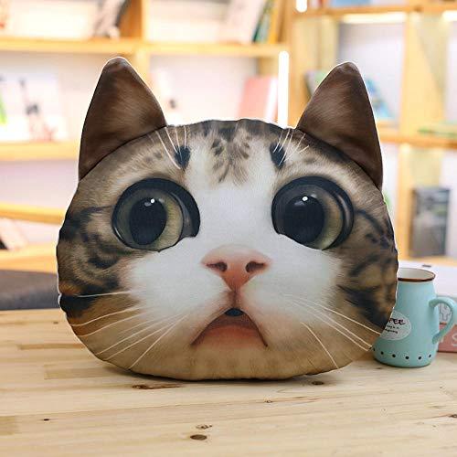 Regalos de cumpleaños lindos dibujos animados simulación gato almohada cojín cuello almohada almohada dormir niño cumpleaños amante @lindo 36 x 36 x 15 cm