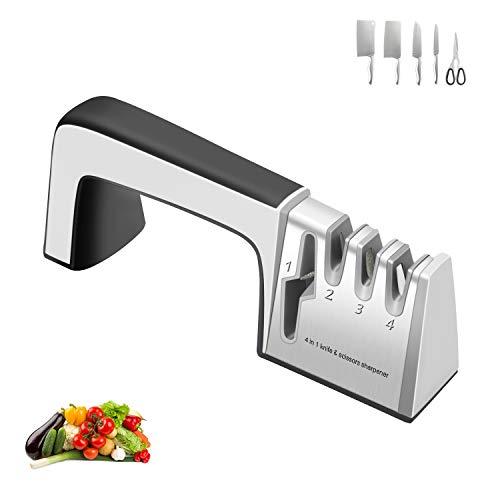 Fubinaty Kitchen Knife Sharpener 4 in 1 Sharp Knives and Scissor...