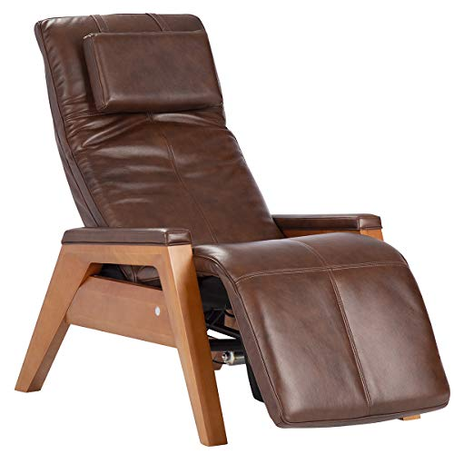 Human Touch Gravis ZG Chair w/Zero-Gravity Seat, Air Massage Technology, One Size, Beechwood Base with Saddle Premium Leather Pad S