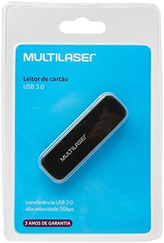 Leitor De Cartão Usb 3.0 Ac290, multilaser, Leitores de Cartões de Memória