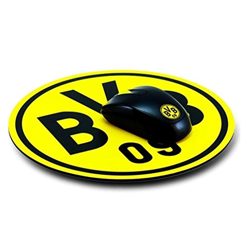 Borussia Dortmund Mousepad Emblem / Mauspad Fan Edition BVB 09 - plus gratis Aufkleber forever Dortmund