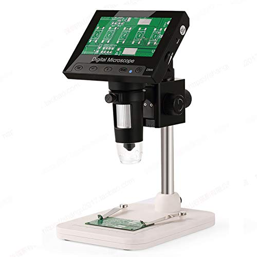 Hayve 4.3Inch LCD Digital Microscope 1000X Magnification,720P Handheld Camera Video Recorder with Metal Stand,8 Adjustable LED Lights for Circuit Board Repair Soldering PCB,Compatible with Windows MAC