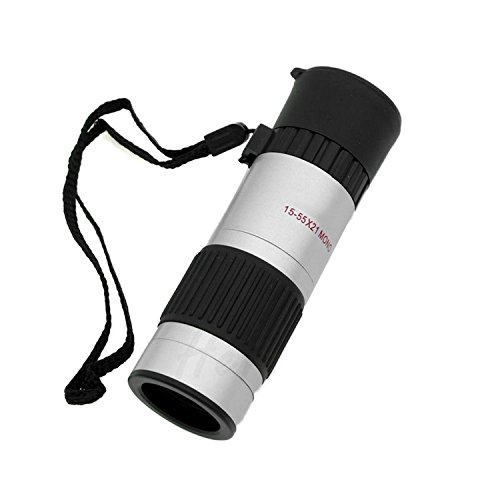 Happy Hours Fashionable Design Mini Compact Pocket Sized 15-55x21 Adjustable Zoom High Transmittance Monocular Telescope Best for Golf Scope Camping Hiking Fishing Birdwatching Concerts