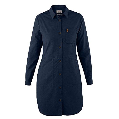FJÄLLRÄVEN Damen Kleid Övik Shirt, Dark Navy, M, F89838-555