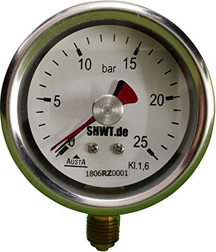 Edelstahl Manometer, NG Ø 63 mm, G1/4