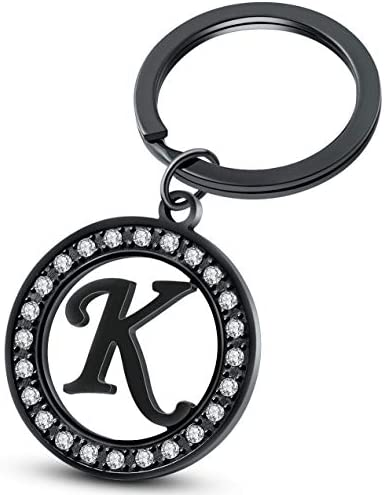 Initial K Letter keychain key chains women for car keys cute girls product image