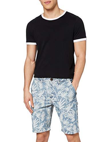 Superdry Herren International Chino Shorts, Multicolor (Chambray Palm T7k), 48 (Talla del Fabricante: 30)