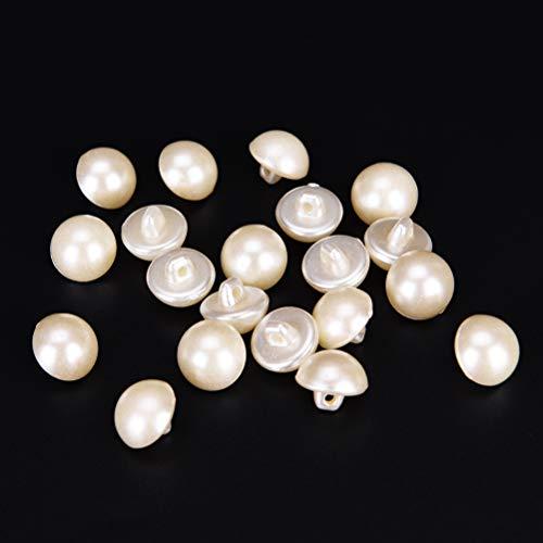 20pcs weißer Knopf/runder Kopf für Brautkleider Hosen Hut Tasche Schuhe Kleidung Nähen Handwerk 9mm Fotofarbe