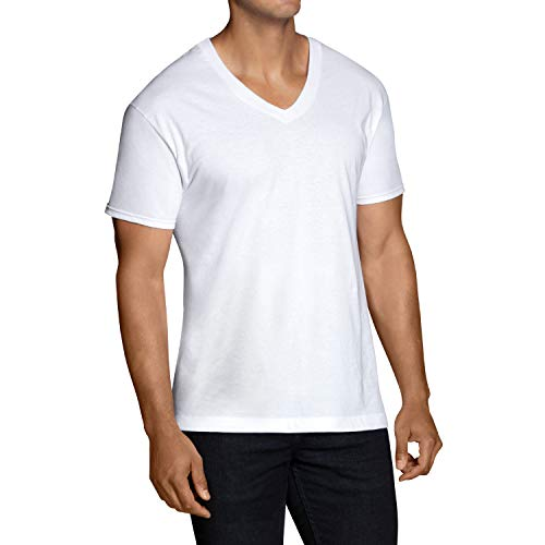 Fruit of the Loom Men's Stay Tucked V-Neck T-Shirts