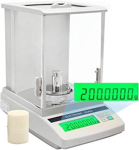 Hanchen Analytische balans, 220 g x 0,1 mg zeer nauwkeurige analyse-weegschaal, digitale balansschaal voor laboratoriumapotheek, juwelier, chemiefabrik, school, handmatige kalibratie, 220 V