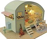 WOHAO BAU-Spielzeug DIY Hütte aus Holz handgemachte Puppenhaus Miniatur DIY Kit Time Travel Series...