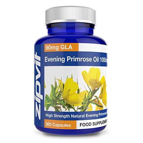 Olio di Enotera Capsule 1000mg, 360 Capsule Morbidi. Estrogeno Naturale - integratore per la menopausa con Omega 6 90mg