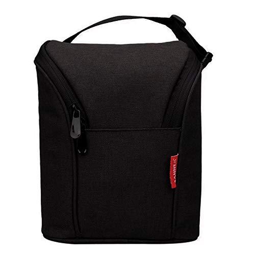 Leichte, isolierte Kühltasche, tiefkühlgeeignete Tasche für Baby-Fläschchen, mit Reißverschluss Schwarz