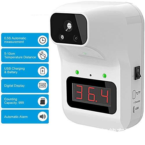 LQQZZZ Infrarot-Digitalthermometer, Nicht-Kontaktthermometer Mit Fieberalarm 0,5S Momentaner Messwert ° C Und ° F Umwandlung in Unternehmen Fabrikspeicher Verwendet
