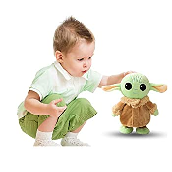 Baby Yoda Plush Toys 8.6 Inch Yoda Electric Cute Doll Walking and Talking Baby Yoda Plush Stuffed Pillows Toy for Birthday Gift Children Gift Tabletop Ornaments