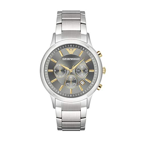 Emporio Armani Herren-Uhren Analog Quarz One Size Edelstahl 87203115
