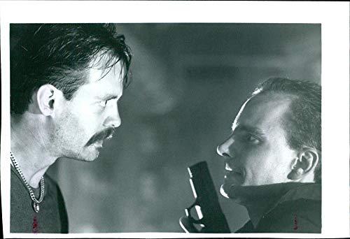 Vintage photo of Michael Biehn and Adam Nelson