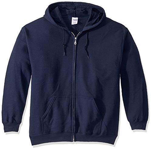 Gildan Men's Fleece Zip Hooded Sweatshirt Navy Large