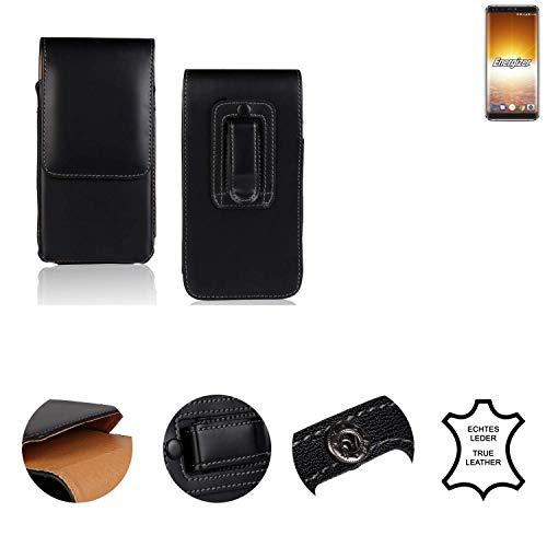 K-S-Trade® Holster Gürtel Tasche Für Energizer P600S Handy Hülle Leder Schwarz, 1x