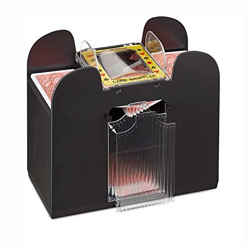ZSSElec Poker-Kartenmischer, automatisch, elektrisch, 6 Kartenmischer, batteriebetrieben