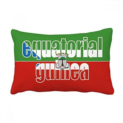 DIYthinker Äquatorial-Guinea Flagge Name Werfen Lendenkissen Kissenbezug Startseite Dekor-Geschenk 16 Zoll x 24 Zolls Mehrfarbig