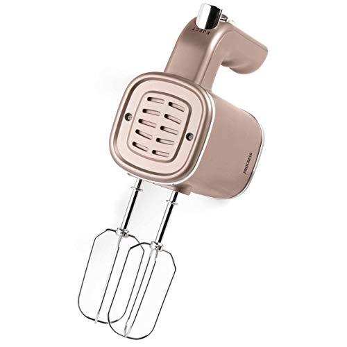 Progress® EK3103CHAMPAGNEP-VDE Metallics Elektrischer Handmixer mit europäischem Stecker Teighaken/Quirle im Lieferumfang enthalten, 5 Geschwindigkeitseinstellungen, 250 W Champagner