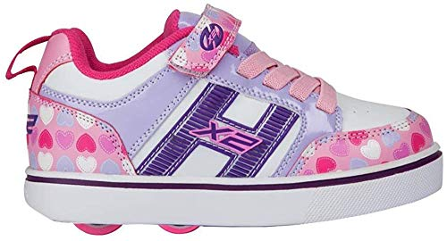 Heelys Unisex-Kinder Fitnessschuhe, Mehrfarbig (Light Pink/Lilac/Hearts 000), 35 EU